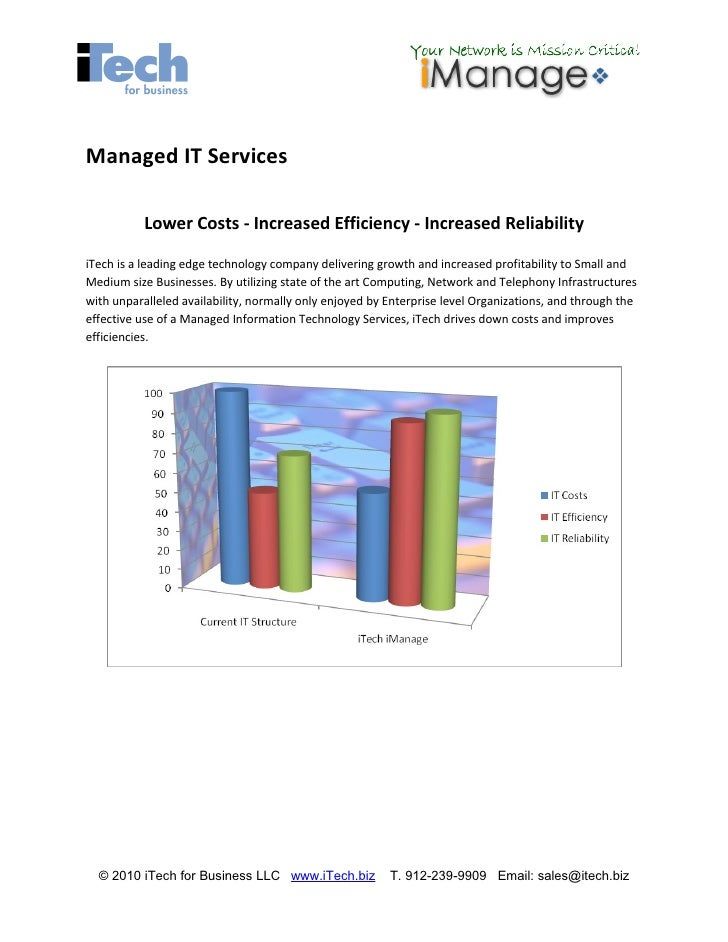 Managed IT Services             Lower Costs - Increased Efficiency - Increased Reliability  iTech is a leading edge techno...