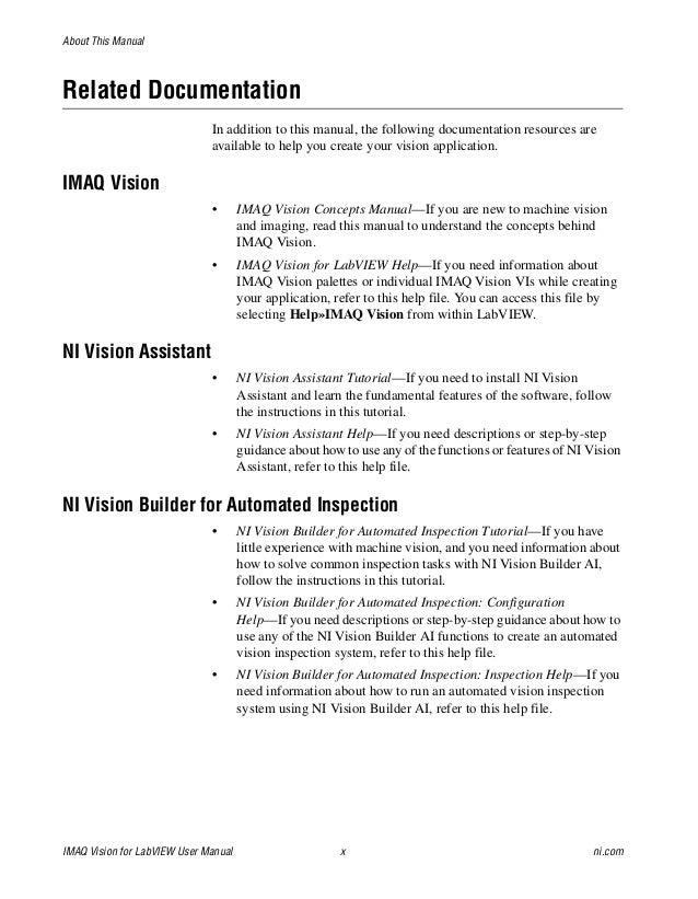 imaq manual rh slideshare net Owner's Manual ni vision user manual