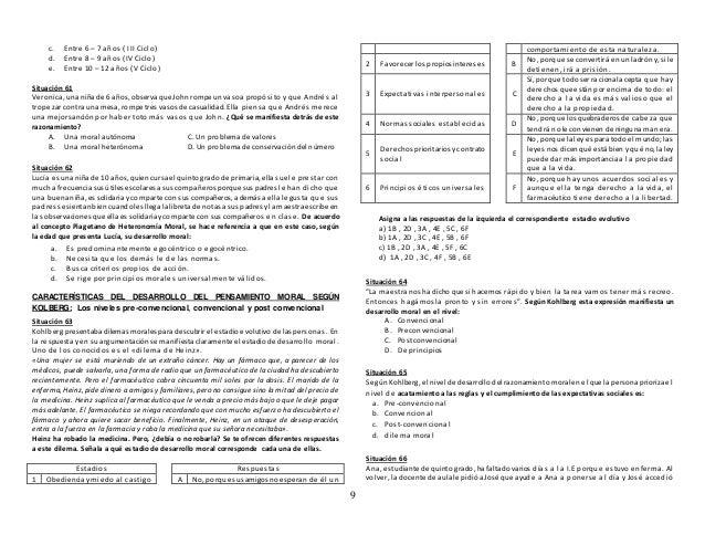9 c. Entre 6 – 7 años ( III Ciclo) d. Entre 8 – 9 años (IV Ciclo) e. Entre 10 – 12 años (V Ciclo) Situación 61 Veronica, u...