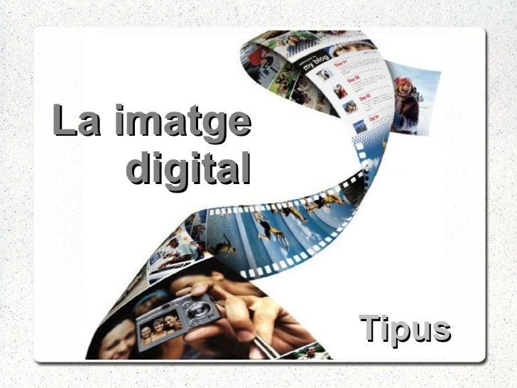 La imatge digital Tipus