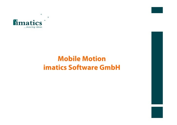 Mobile Motionimatics Software GmbH