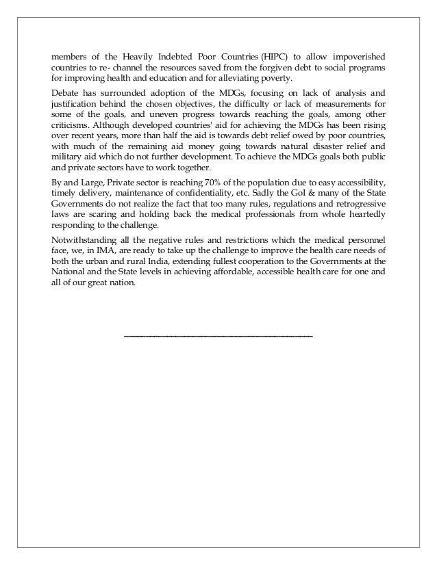 IMA: White Paper on Healthcare Reforms 2013