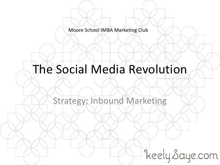The Social Media Revolution<br />Strategy: Inbound Marketing<br />Moore School IMBA Marketing Club<br />