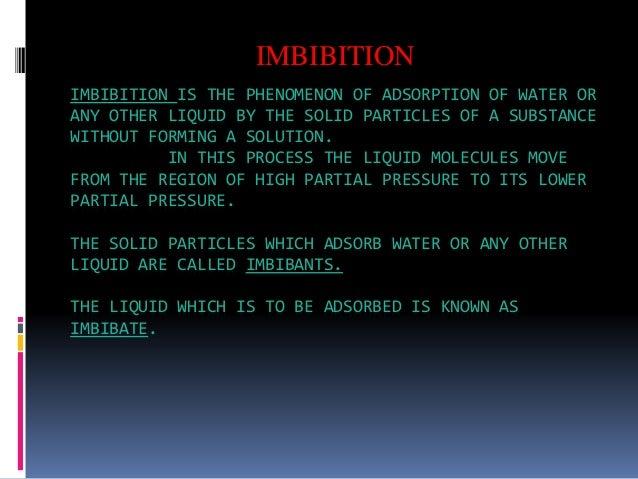 Adsorption Water