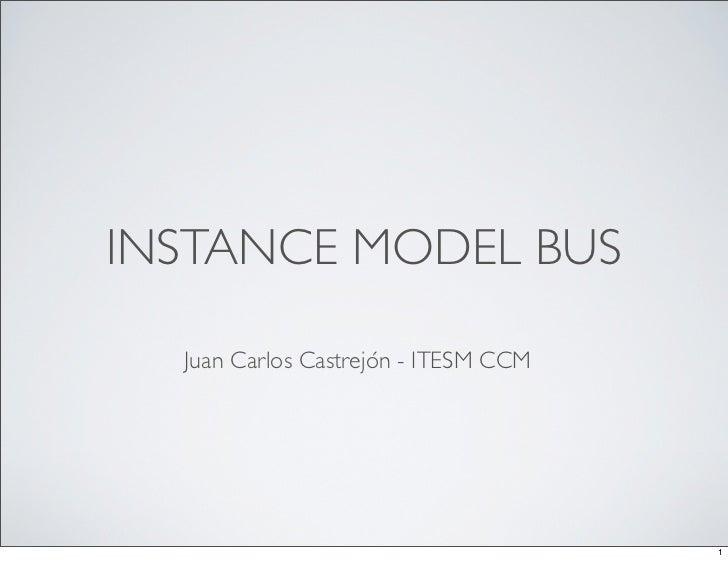 INSTANCE MODEL BUS  Juan Carlos Castrejón - ITESM CCM                                      1