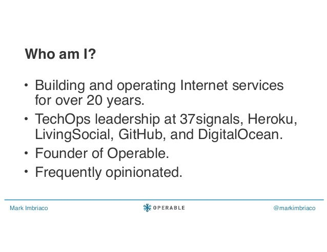 What I learned leading Ops at GitHub, Heroku, DigitalOcean, and more... Slide 2