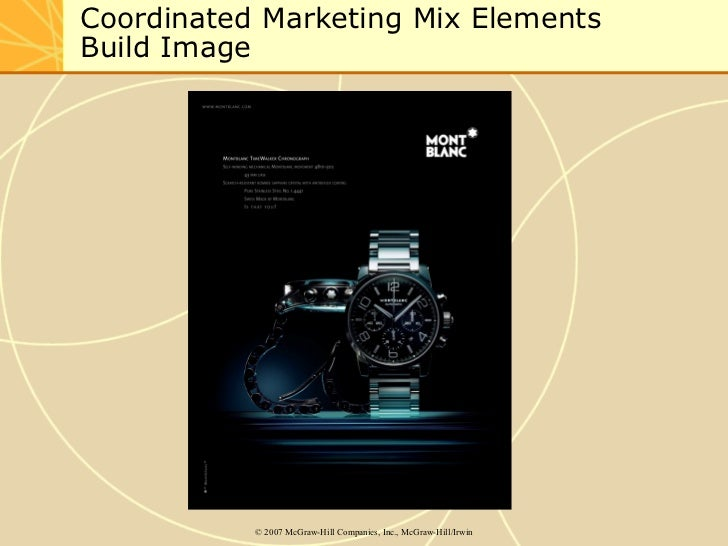 Coordinated Marketing Mix Elements  Build Image ©  2007 McGraw-Hill Companies, Inc., McGraw-Hill/Irwin