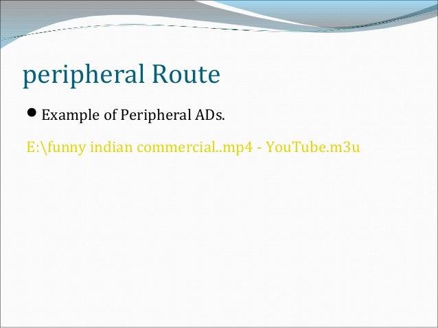 peripheral route persuasion example