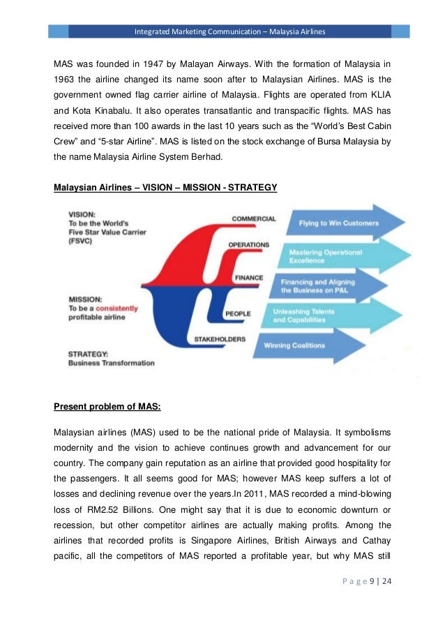 malaysia airlines vision and mission 2018