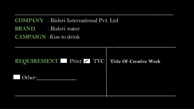 IMC Briefing of Bisleri caimapign Slide 3