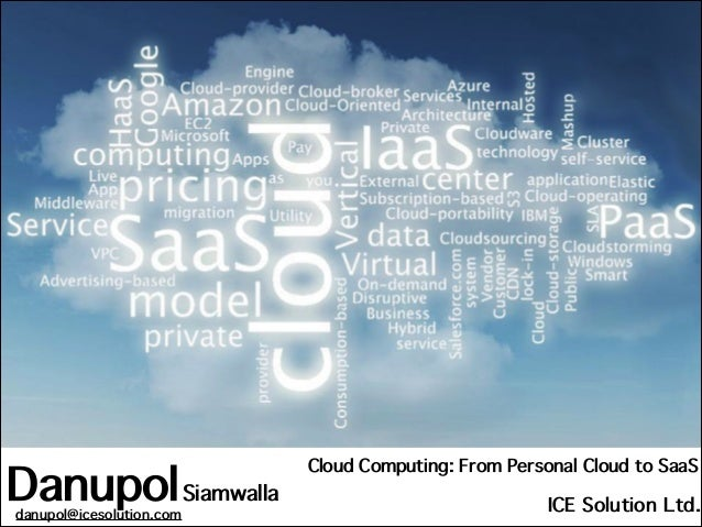 Danupol Siamwalla danupol@icesolution.com  Cloud Computing: From Personal Cloud to SaaS  ICE Solution Ltd.