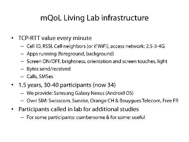 mQoL Living Lab presentation, University of Geneva, Switzerland