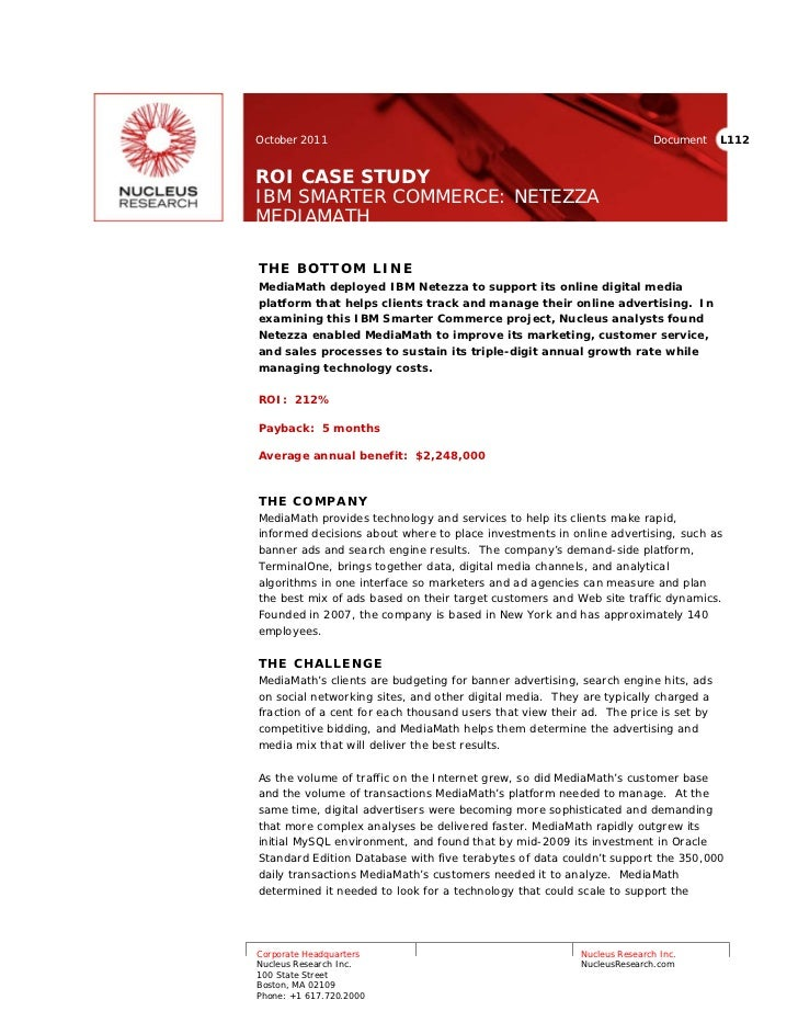 October 2011                                                             Document    L112ROI CASE STUDYIBM SMARTER COMMERC...