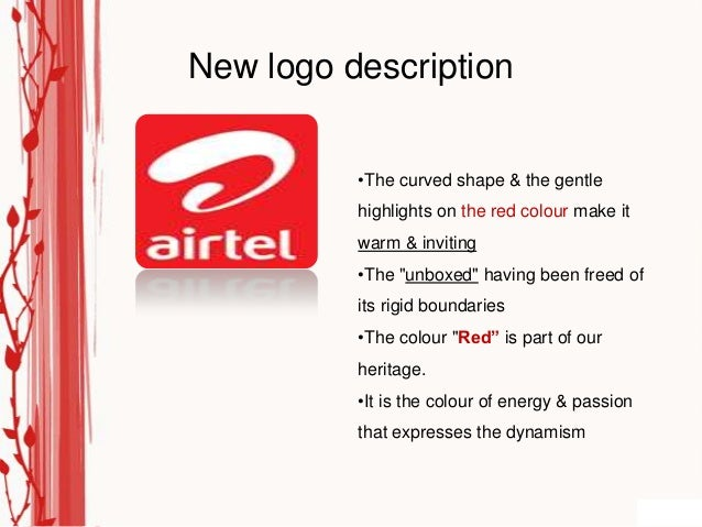 New logo description          •The curved shape & the gentle          highlights on the red colour make it          warm &...