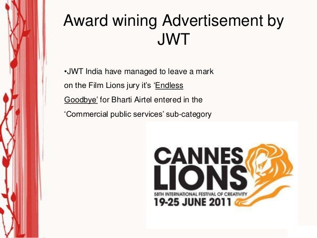 """Award wining Advertisement by            JWT•JWT India have managed to leave a markon the Film Lions jury it""""s """"EndlessGoo..."""