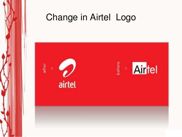Change in Airtel Logo