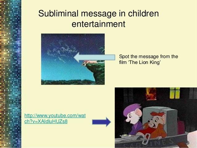 Subliminal message in children        entertainment                         http://i463.photobucke                        ...