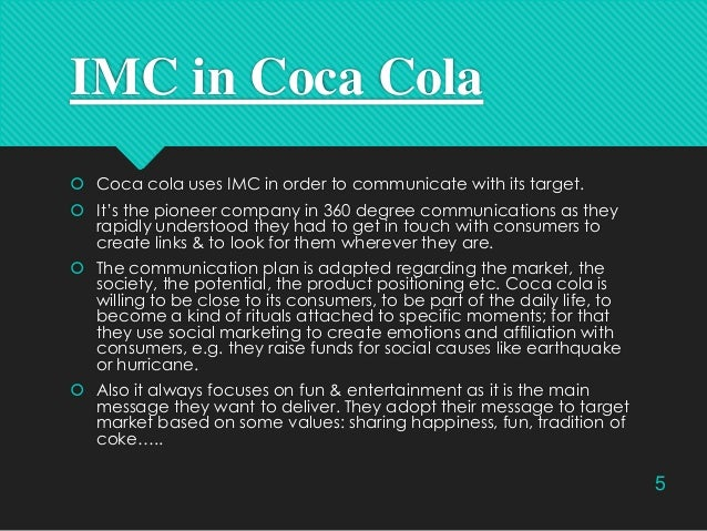 Integrated Marketing Communications (IMC) Portfolio for Coca Cola