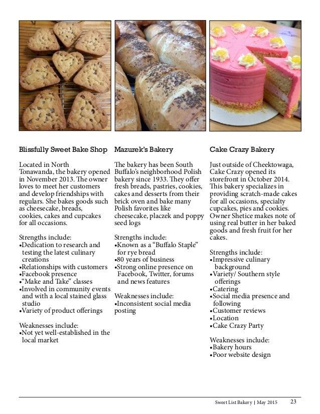 IMC Plan for Sweet List Bakery