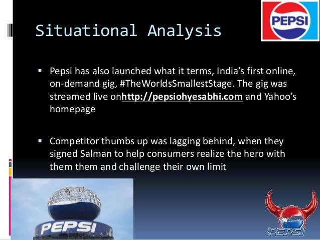 regression analysis of pepsico