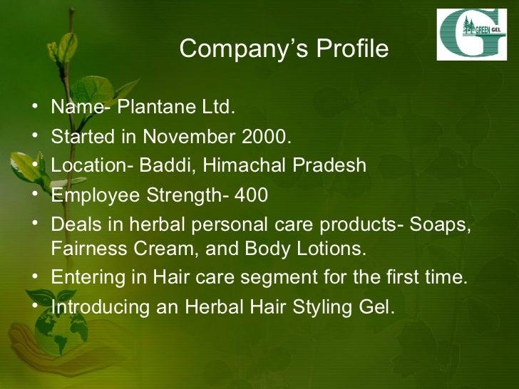marketing plan of an herbal hair styling gel Slide 3