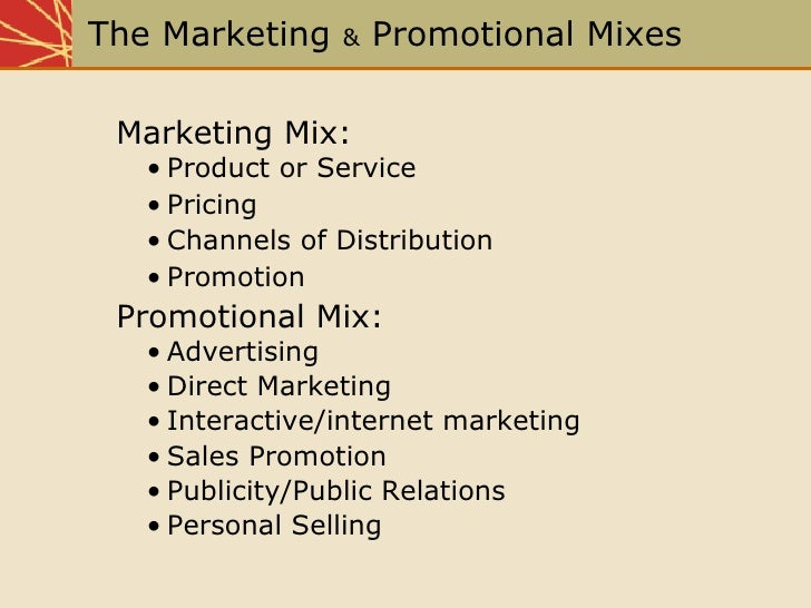 promotion mix to create an imc campaign marketing essay Developing the integrated marketing communications program  revised pages an introduction to integrated marketing  way of marketing the city that would create a.