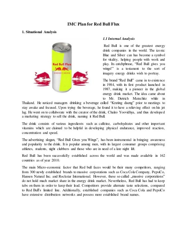 marketing of energy drinks essay What's the buzz about energy drinks  don't take trendy energy drinks at face value question the marketing of these products,.