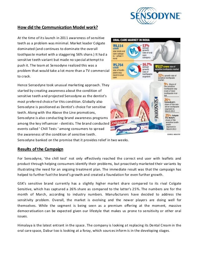 Colgate toothpaste research paper