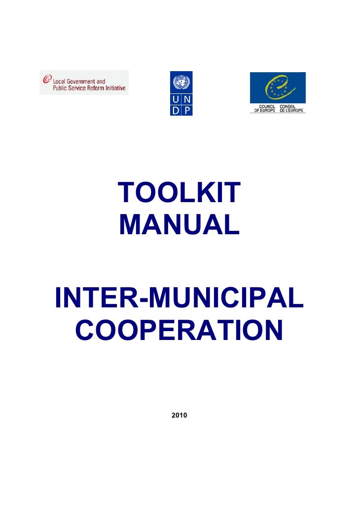 TOOLKIT   MANUALINTER-MUNICIPAL  COOPERATION       2010
