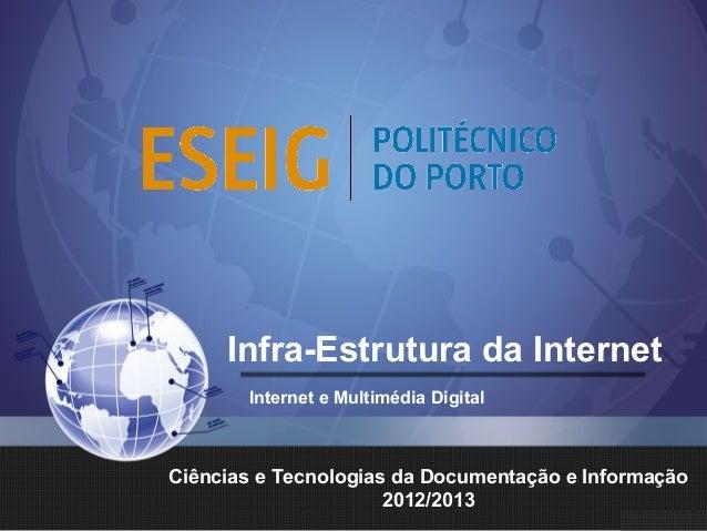 Infra-Estrutura da InternetInternet e Multimédia DigitalCiências e Tecnologias da Documentação e Informação2012/2013