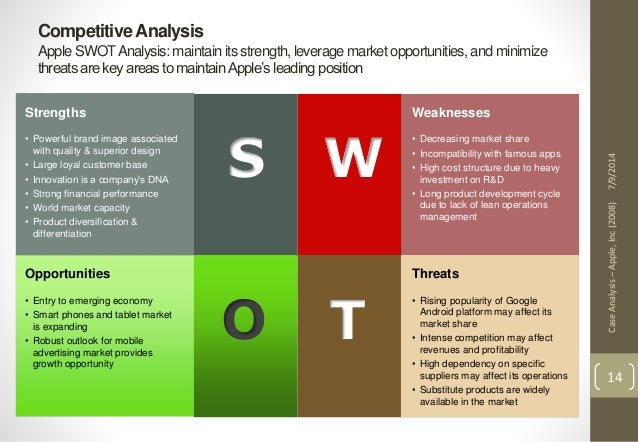 apple case study swot analysis