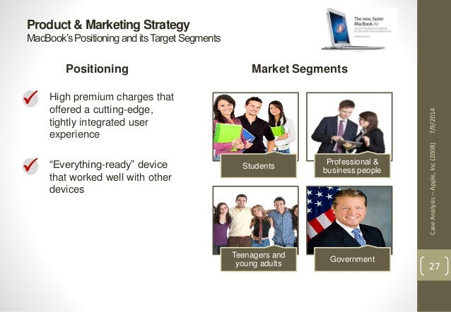 analysis segmentation and marketing mix of apple From a high-level, the goal of a marketing strategy is to identify a target  free  market segmentation tool to analyze market segment sizes  have the  choice between products from microsoft, dell, apple, fujitsu, etc.