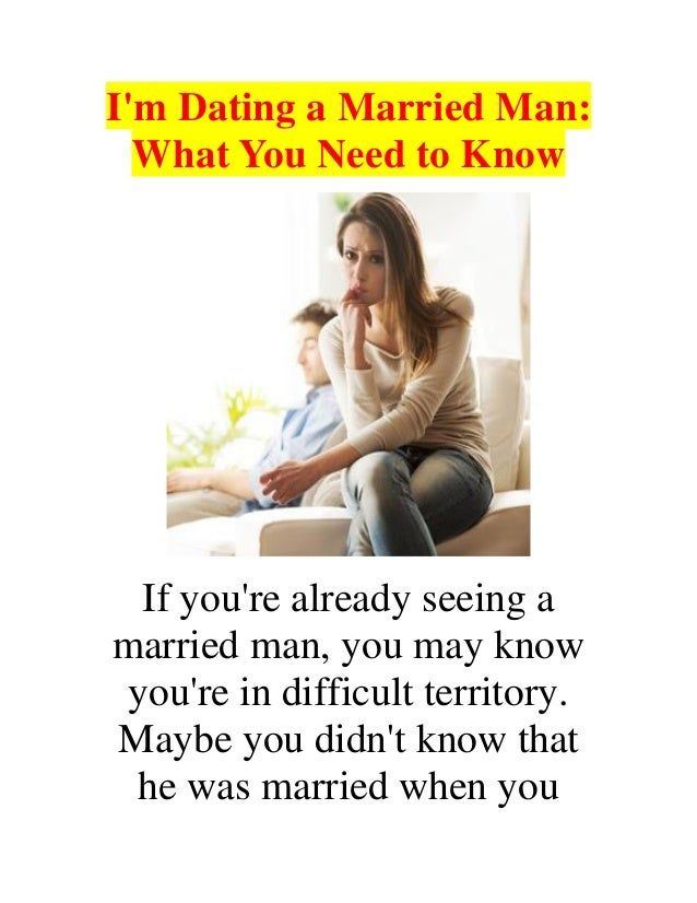 Bad things about dating a married man