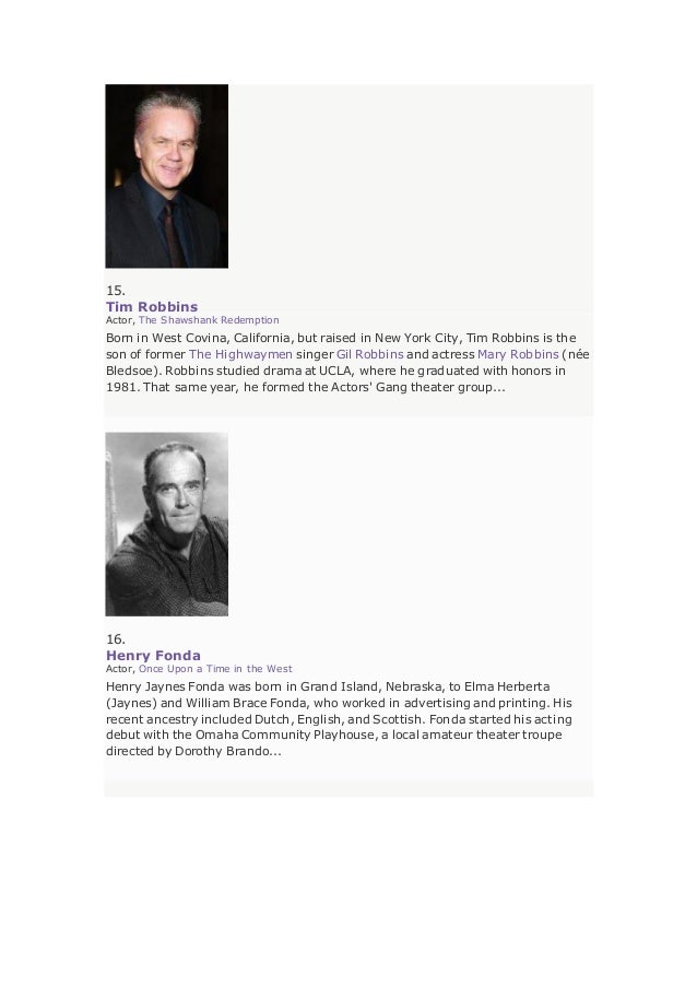 Im Db Best Actors Top 250 A List By Yves Porters Copied By Sami