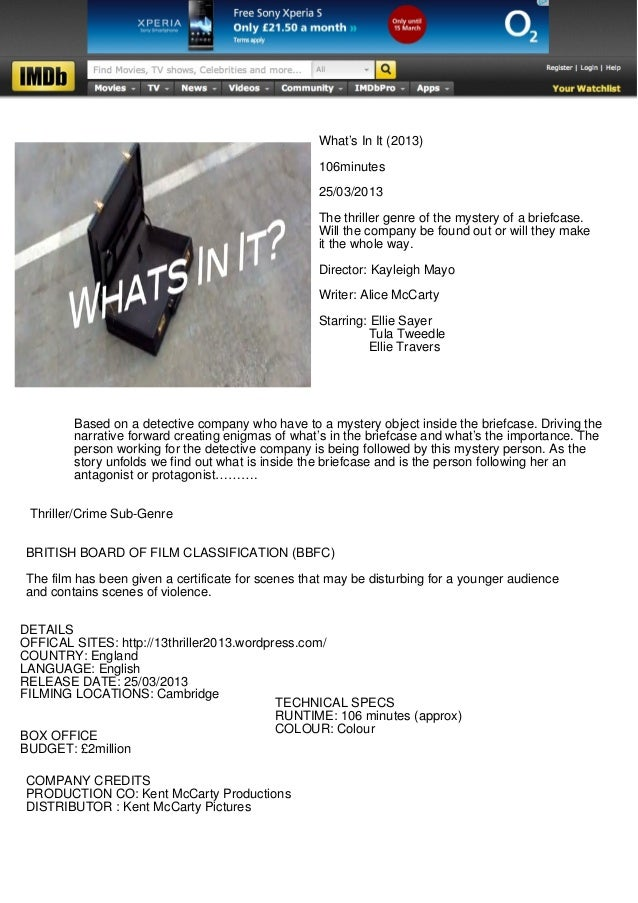 What's In It (2013)                                                   106minutes                                          ...