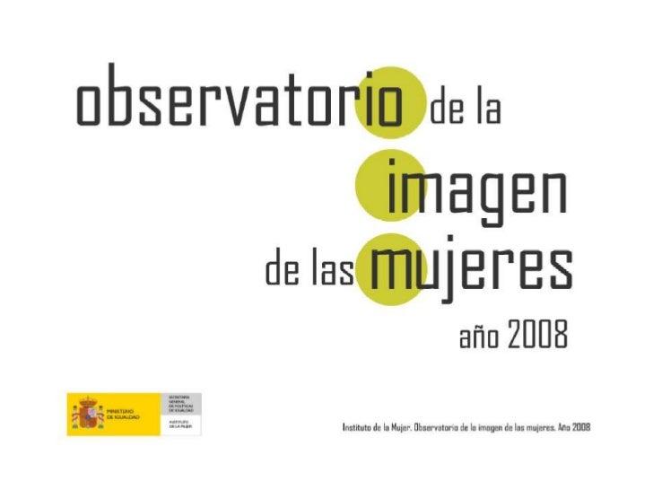 Informe Instituto de la Mujer 2008