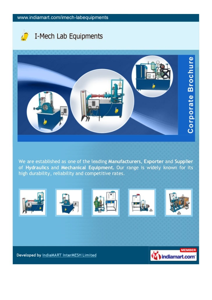 We are established as one of the leading Manufacturers, Exporter and Supplierof Hydraulics and Mechanical Equipment. Our r...