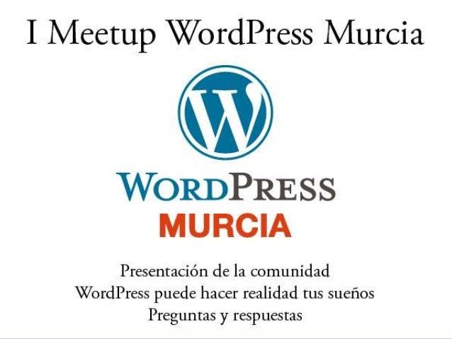 La comunidad de WordPress somos todos los usuarios