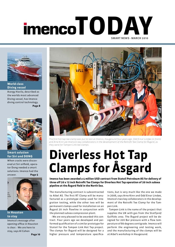TODAY                              SMART NEWS - MARch 2010World classDiving vesselAcergy Havila, described asthe worlds mo...