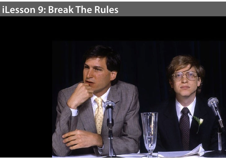 """Break The Rules""""Here's to the crazy ones, the misfits, the rebels, thetroublemakers, the round pegs in the square holes… th..."""