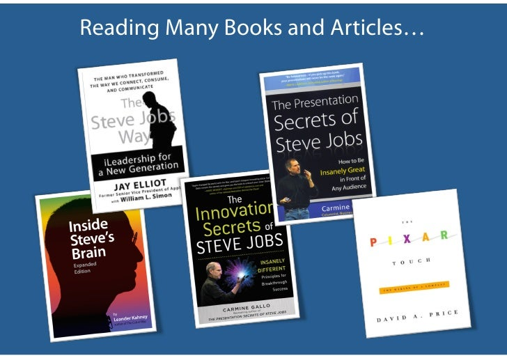 Reading Many Books and Articles…