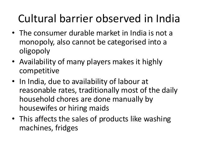 Cultural barriers in international marketing