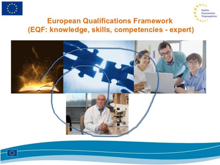 European Qualifications Framework(EQF: knowledge, skills, competencies - expert)