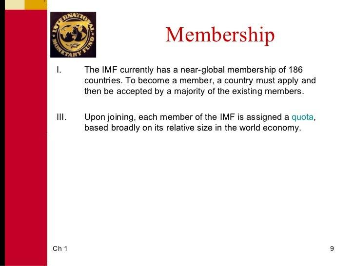 international monetary fund example