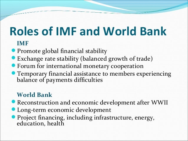 Imf objectives and policies