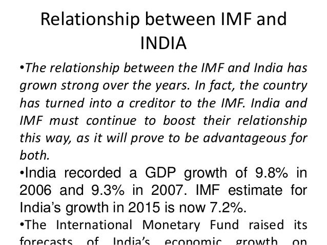 achievements of imf India is a source of growth for the global economy for the next few decades and it could be what china was for the world economy, the imf said.