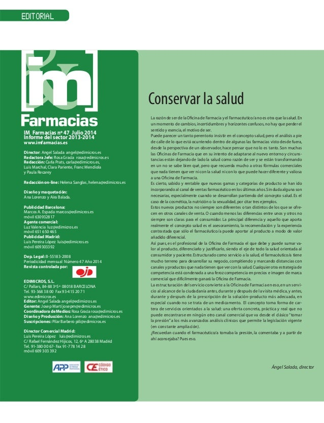 Anuario IM Farmacias 2014: Informe Sector Farmacéutico