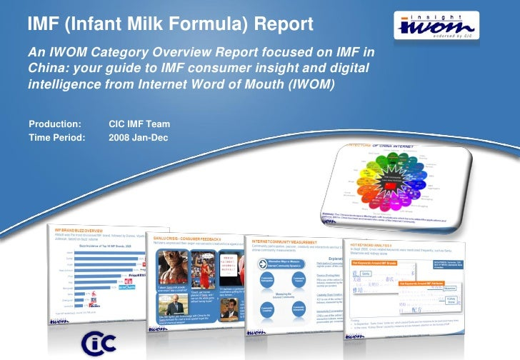 IMF (Infant Milk Formula) Report An IWOM Category Overview Report focused on IMF in China: your guide to IMF consumer insi...