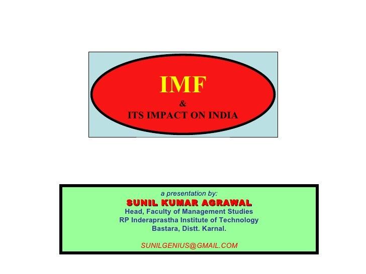 impact of imf on indian economy pdf