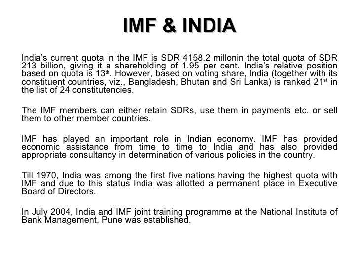 IMF & Impact On India